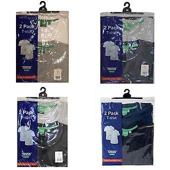 Hertug Herre Fenton Kingsize-D555 rund hals T-shirts (pakke med 2)