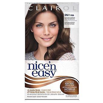 Clairol nice 'n easy, 5n/118a natural medium neutral brown, 1 ea