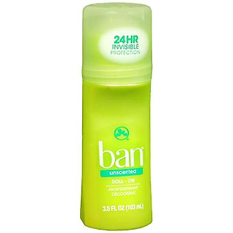 Ban roll-on antiperspirant & deodorant, unscented, 3.5 oz