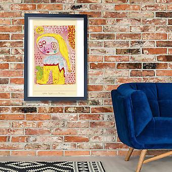 Paul Klee - Magdalena vor der Bekehrung plakat Giclee druku