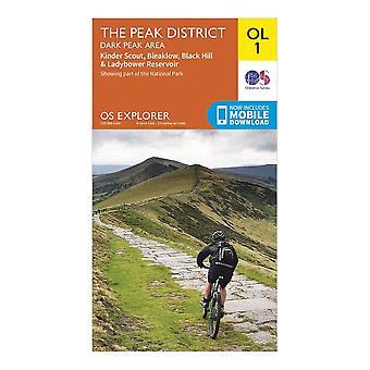 New Ordnance Survey Explorer OL1 The Peak District - Dark Peak Area Orange
