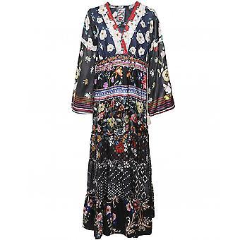 Johnny Was Dunas Silk Maxi Dress
