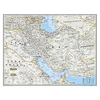 Iran Classic Tubed Wall Maps Countries  Regions by National Geographic Maps