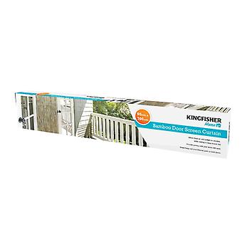 Kingfisher Bamboo Door Screen Curtain Sized to Fit Normal Door Frames 200 x 90cm