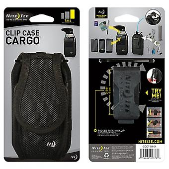 NITE IZE NYLON VERTICAL CLIP CASE CARGO POUCH WITH CLOSURE - LARGE TALL