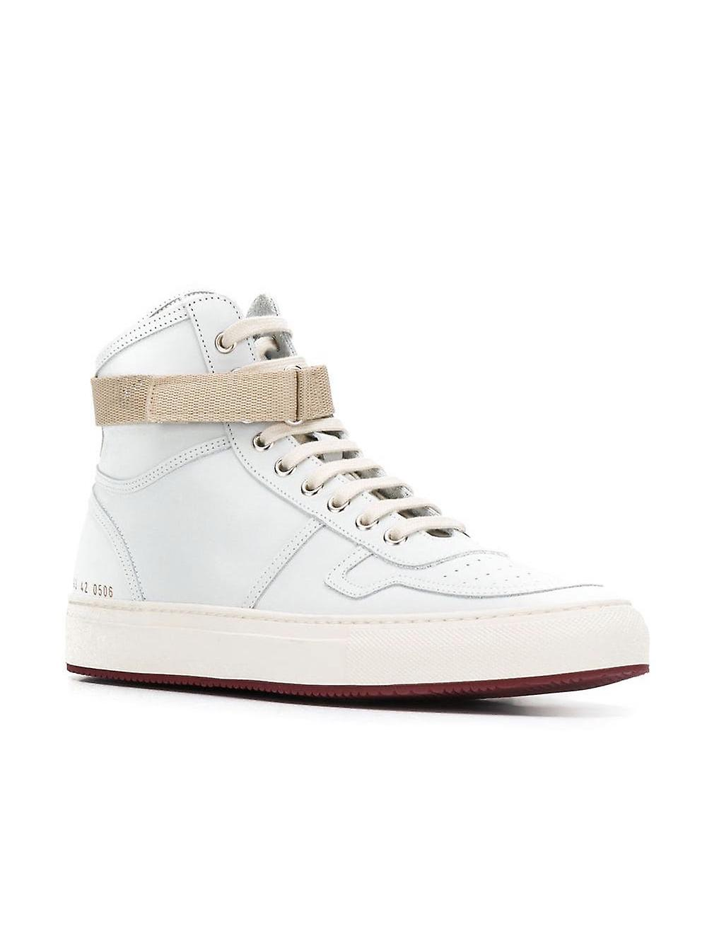 Common Projects Ezcr016001 Men's White Leather Hi Top Sneakers