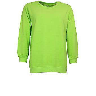 A Postcard from Brighton Lime Green Tie Back Sweatshirt