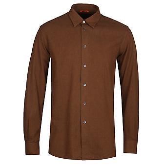 Barena liten sjekk langermet ingefær skjorte