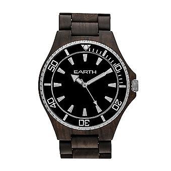 Reloj de pulsera de centurión de madera de la tierra - marrón oscuro