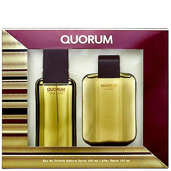 Antonio Puig - Quorum Gift Set 100 ml and aftershave Quorum 100 ml - 100