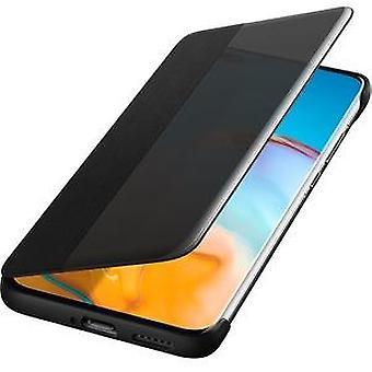 Huawei P40 Pro Smart View flip kansi kotelo alkuperäinen - musta