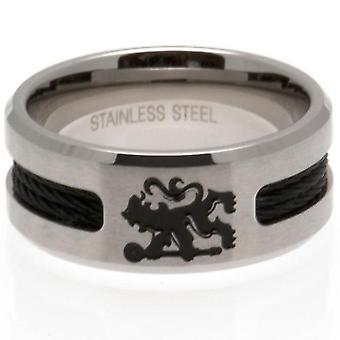 Chelsea FC Black Inlay Ring