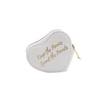 CGB Giftware Willow And Rose Keep The Pennies White Heart Purse