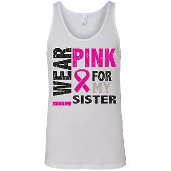Tanque pecho cáncer conciencia hombres usar color de rosa para mi hermana