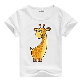 Summer Cotton Short Sleeve T-Shirt, Giraffe, Infant