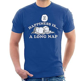 Peanuts Happiness Is A Long Nap Snoopy Men's Camiseta