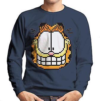 Garfield pixelated Grin mannen ' s Sweatshirt