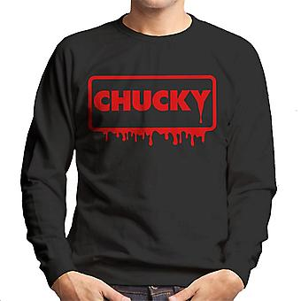 Chucky Blood Frame logo mäns tröja