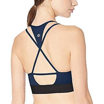 Marke - Core 10 Frauen's Multi-Strap Sport BH mit abnehmbaren Tassen, blau, X-Large