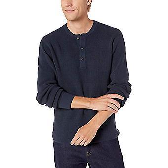 Marke - Goodthreads Men's weiche Baumwolle Henley Pullover, Navy XX-Large