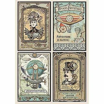 Riisipaperi A4 Voyages Fantastiques -kortit (DFSA4368)