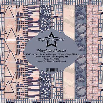 Paper Favourites Navyblue Abstract 6x6 Inch Paper Pack