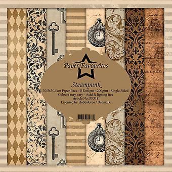 Dixi Craft Steampunk 12x12 Inch Paper Pack