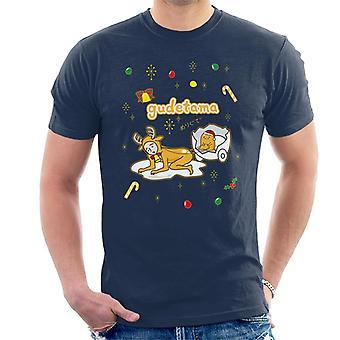 Gudetama Christmas Nisetama San Reinsdyr Menn&t-skjorte