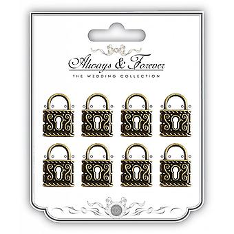 Craft Consortium Metal Vintage Lock Charms Medium