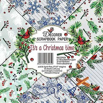 Decorer It's a Christmas Time 8x8 Inch Paper Pack