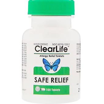 MediNatura, ClearLife, Safe Relief, Allergy Relief Tablets, 100 Tablets