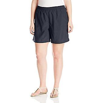 Columbia Women's Plus Size Sandy River Short, Black, 1X x 6