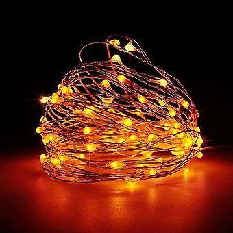 YANGFAN Xmas Decorations Battery Powered LEDs Copper Wire String Lights