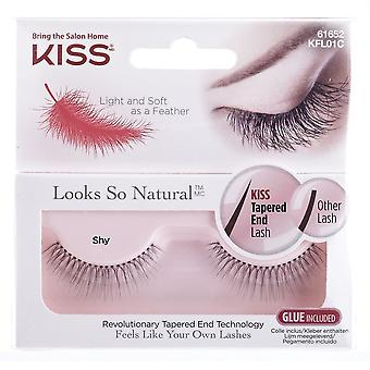 Kiss Looks So Natural Tapered End False Lashes - Shy - Lash Adhesive Included