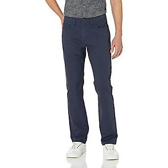 Goodthreads Men's Straight-Fit 5-Pocket Chino Pant, Navy 35W x 32L