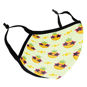 Cool Pineapple Shades Adult Reusable Fabric Face Mask