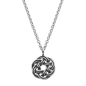Heritage Sterling Silver Celtic Knot Wreath Necklace 9238OX026