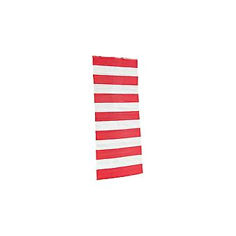 Spura Home Outdoor Reversible Oriental Red Striped 2.6x6 Runner Rug for Hallway