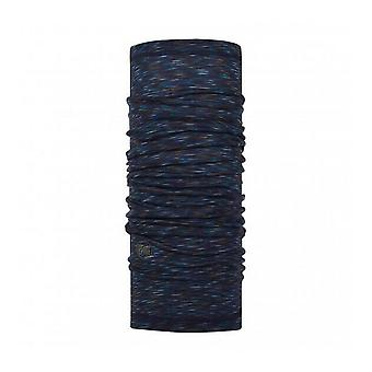 Buff Merino Wool Neck Warmer Denim Stripes
