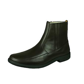 Sledgers Dallas Mens Leather Chelsea Boots - Brown