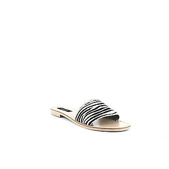 Aqua | Zebra Print Slide Sandale