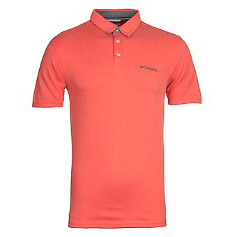 Columbia Nelson Point rotes Polo-Shirt