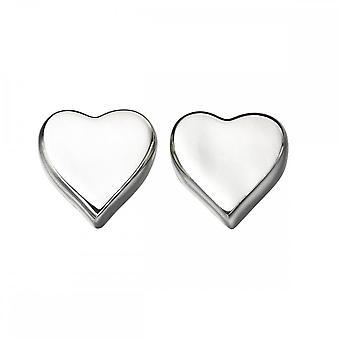 بدايات الجنيه الاسترليني الفضة E4619 القلب مسمار الأقراط