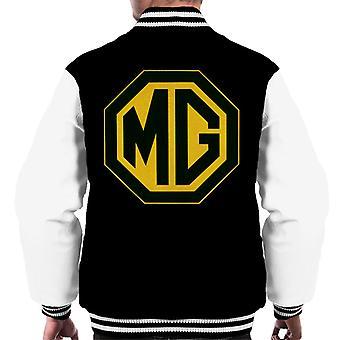 MG Musta ja kultainen logo British Motor Heritage Men's Varsity Takki