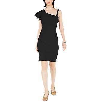 Bar III   Asymmetrical Ruffle Bodycon Dress