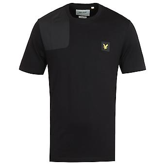 Lyle & Scott Ripstop Applique Jet Black Logo T-Shirt