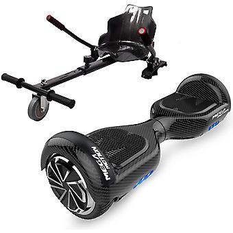 Mega Motion 6.5 Self Balancing Scooter with Hoverkart, Hoverboards Bluetooth, Electric Scooter Go kart, Smart Segway Powerful Motor with LED Indicator, Gift for Kids