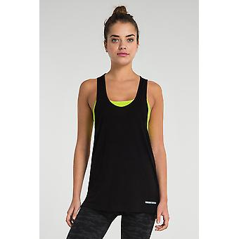 Jerf Womens Picton Black Drop Armhole Tank Top