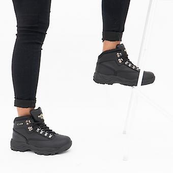 Northwest Territory Peak Ladies Leather Waterproof Hiking Boots Black