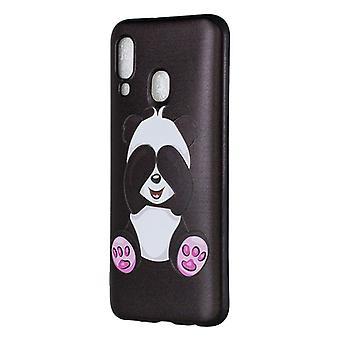 Boîtier TPU en relief painted panda pattern pour Galaxy A40